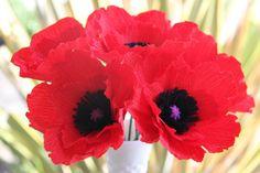 etsy Poppy Flowers  Red Poppy  paper poppy  Crepe Paper by FlowerBazaar, $30.00