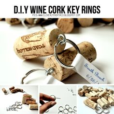 DIY Cork Key Rings. This DIY idea is from 'CleverlyInspired' and was featured and linked to in a DIY cork special on ScrapHacker.com