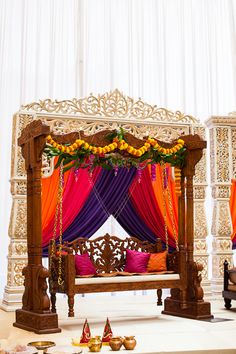 Indian Swing & Jhulla Inspiration! For Indian Wedding Decorations in the Bay Area, California; Contact R&R Event Rentals, Located in Union City & serving the Bay Area and Beyond.