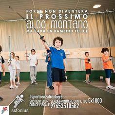 @Regrann from @ssfonlus -  Cosa rende un bambino davvero felice? Muoversi divertirsi giocare insieme. Crescere un passo per volta facendo sport con tanti nuovi amici lontano dalla strada per avere una vita sana e un futuro sereno.  Sostenere i nostri bambini non ti costerà nulla. Basta solo una firma. Dona il tuo 51000 a Sport Senza Frontiere: codice fiscale 97653510582.  @AldoMontano #aldomontano #montano #SportSenzaFrontiere #campione #campioni #unodinoi #forzaragazzi #orgoglio #vincere…
