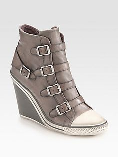Ash Leather Sneaker-Inspired Ankle Boots