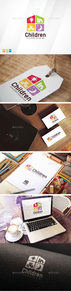 Children Club Logo Design Template Vector #logotype Download it here: http://graphicriver.net/item/children-club/13721370?s_rank=365?ref=nexion