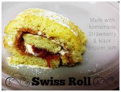 White Lily Green: #GreatBloggersBakeOff2014 - Week 1 ~ Cake (Strawberry & Black Pepper Swiss Roll)