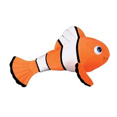 12-Inch Plush Clown Fish (Bulk Pack of 12 Fish)