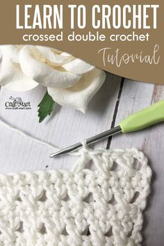 Learn to Crochet: crossed double crochet tutorial - Craft-Mart #learntocrochet #crochetstitch
