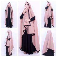 Sayra Sarah Khimar Full Length Hijab Long Jilbab Scarf Abaya Islam Muslim Muslim Dress, Hijab Dress, I Dress, Abaya Fashion, Fashion Dresses, Kamiz, Islam Muslim, Islamic Clothing, Beautiful Hijab