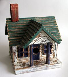 Handmade Wooden House Birdhouse