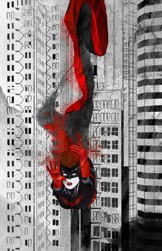 Batwoman Ink Fall by skyscraper48 on deviantART