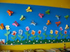 Spring bulletin board idea for kids – Crafts and Worksheets for Preschool,Toddler and Kindergarten Kids Crafts, Diy Arts And Crafts, Preschool Crafts, Kids Bulletin Boards, Spring Bulletin Boards, Spring Projects, Spring Crafts, Decoration Creche, Puzzle Crafts