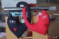 Кошки-сердечко. Выкройки игрушек
