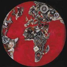 "Iranian #Art:Artist Reza Mafi""The World in 1972""-A tiny bit disturbing though becoz of the child :)"
