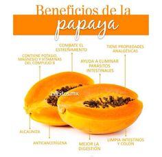 beneficios de la papaya #nutricionysalud