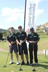 Ready for tee-off at Cotswold Downs Golf Course (1st KZN elimination)