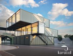 Container homes cost storage container homes for foot shipping container home cargo house plans,container home design plans container homes nz. Container Architecture, Container Buildings, Sustainable Architecture, Modern Architecture, Container Shop, Container Design, Recycling Containers, Sea Containers, Shipping Container Office
