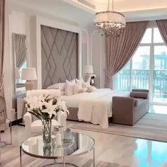 Room Design Bedroom, Master Bedroom Interior, Modern Master Bedroom, Bedroom Furniture Design, Fancy Bedroom, Large Bedroom, Master Bedrooms, Bedroom Inspo, Bedroom In Living Room