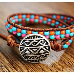 Boho beaded bracelet on Etsy