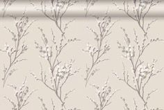 Pussy Willow Natural Floral Wallpaper
