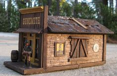 Old West Gunsmith Shop Model Train Structures