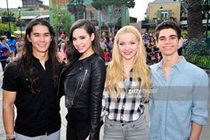Booboo Stewart, Sofia Carson, Dove Cameron and Cameron Boyce of Disney's 'Descendants' perform and join fans at Downtown Disney at Disneyland Resort on October 17, 2015 in Anaheim, California.