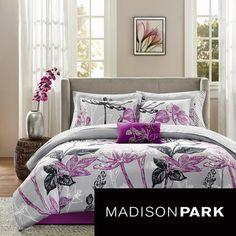 Madison Park Essentials Nicolette 9 Piece Complete Bed Set Ping