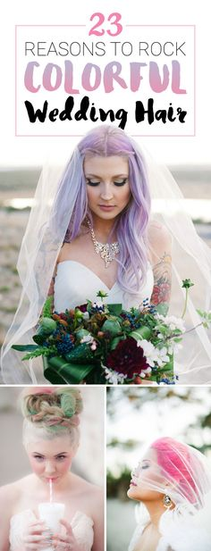23 Photos That Prove That Colorful Hair Is The Best Wedding Accessory