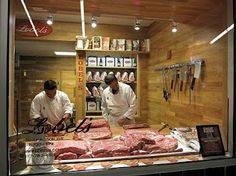 Another view of the demonstration butcher shop in Yankee Stadium. #mylobels