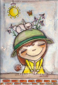 Cereal Box Art    Thoughts of Spring    ©dianeduda/dudadaze