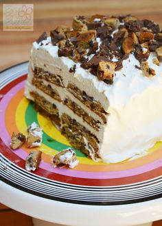Layered Cookie Ice Cream Cake Recipe - Brie Brie Blooms