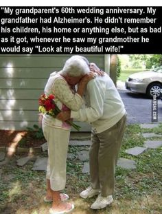 True love, this proves the heart is stronger then the mind.
