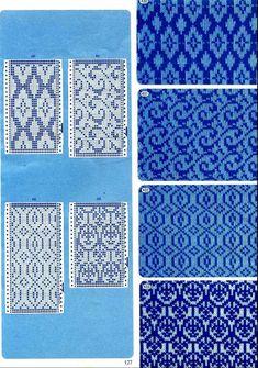 "Photo from album ""Punch Card Pattern on Yandex. Fair Isle Knitting Patterns, Knitting Machine Patterns, Knitting Charts, Weaving Patterns, Knitting Stitches, Knitting Designs, Motif Fair Isle, Fair Isle Pattern, Card Patterns"