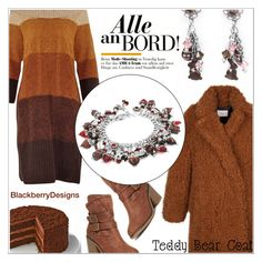 """Teddy Bear Coat with BlackberryDesigns"" by shambala-379 ❤ liked on Polyvore featuring Dorothy Perkins"