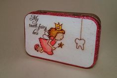 Tooth Fairy Box Altered Altoid Tin Pink by YoureSoSaturday on Etsy, $15.00