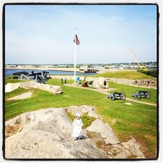 A walk at Fort Phoenix (Fairhaven, MA), was something my dad and gramma always took us to do!! Climbing on cannons was a must !!