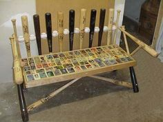 baseball bat bench-  must have this someday