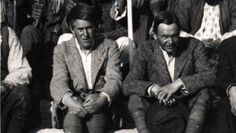 T.E. Lawrence (left) and C.L. Woolley at Karkemish in 1913 (photo credit: CC BY Wikipedia/public domain)