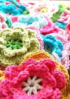 I've got to learn how to make these!...fun with color and yarn... by rose hip..., via Flickr