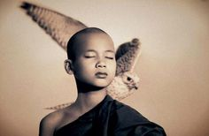 by Gregory Colbert from ashes and snow exhibition Theo Theo, 4 Image, Portrait Studio, Little Buddha, Portraits, Wabi Sabi, Tibet, Oeuvre D'art, Photos