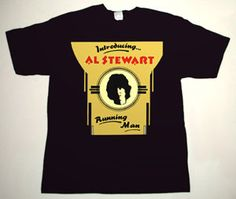 AL STEWART Introducing Al Stewart DELUXE ART CUSTOM T-SHIRT   Each T-shirt is individually hand-painted, a true and unique work of art indeed!  To order this, or design your own custom T-shirt, please contact us at info@collectorware.com, or visit  http://www.collectorware.com/tees-al_stewart.htm