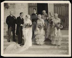 Beautiful 1920s wedding photo