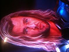 This is where I paused The Avengers. Thor should do lipstick commercials!