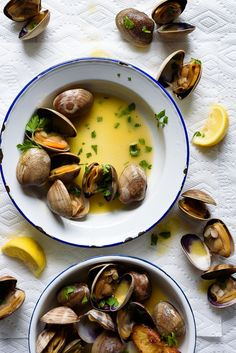 Grilled Manila Clams with Lemon Herb Butter / via forkknifeswoon.com