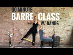 30 Minute Barre Class with Bands - Full Body Workout Pilates Barre, Ballet Barre, Pilates Video, Pilates Workout, Pilates Reformer, Barre Workouts, Cardio, Workout Exercises, Tabata