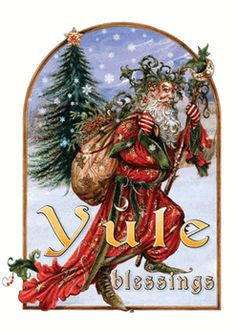 Yule Herne Greeting Card by Briar - pagan wiccan witchcraft magick ritual supplies