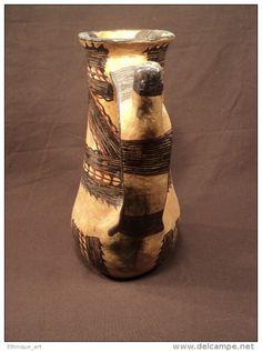 ANCIENNE CÉRAMIQUE KABYLE BERBÈRE IDEQQI ALGÉRIE KABYLIE DJURDJURA POTERIE ALGERIAN POTTERY - Art Africain