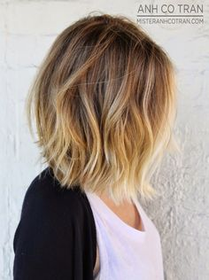My new haircut; long bob, soft ombre
