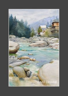 watercolour on paper in manali