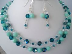 Swarovski Crystal Necklace and Earring Set by fyfchicenergy, $85.00