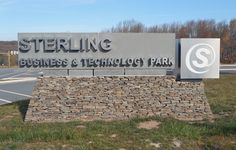 The new sign at Sterling Business & Technology Park.