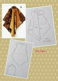 Sewing vintage patterns simple New ideas Dress Sewing Patterns, Blouse Patterns, Clothing Patterns, Batik Fashion, Fashion Sewing, Sewing Blouses, Diy Mode, Batik Dress, Top Pattern