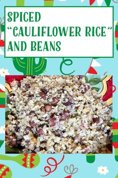 Spiced Cauliflower, Frozen Cauliflower Rice, Head Of Cauliflower, Vegan Gluten Free, Gluten Free Recipes, Vegan Vegetarian, Pinto Beans, My Recipes, A Food